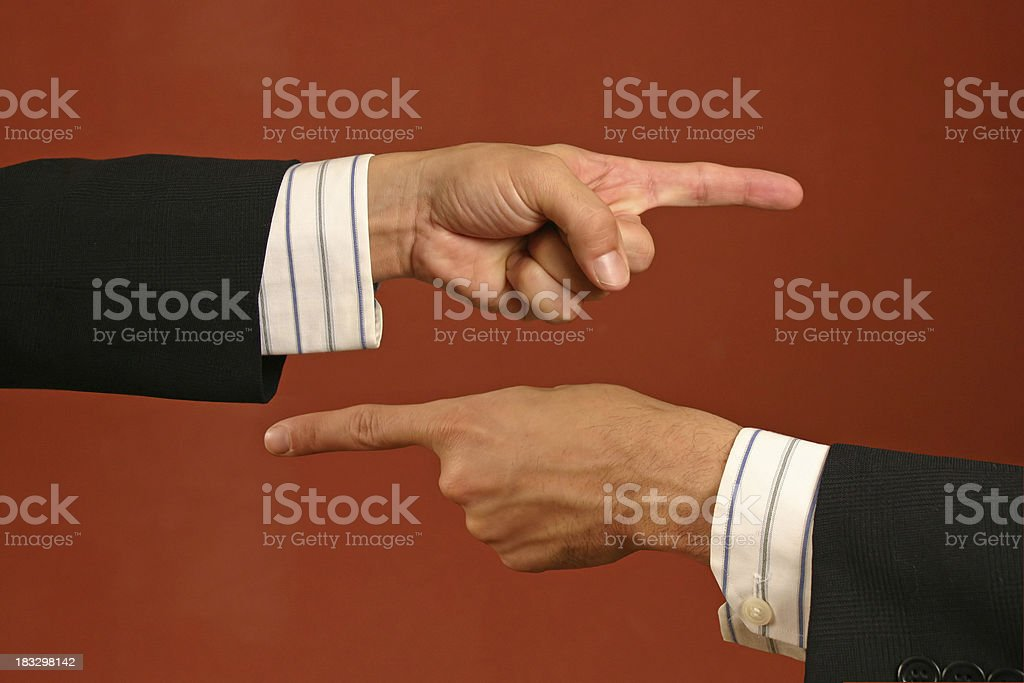 Pointing Fingers royalty-free stock photo