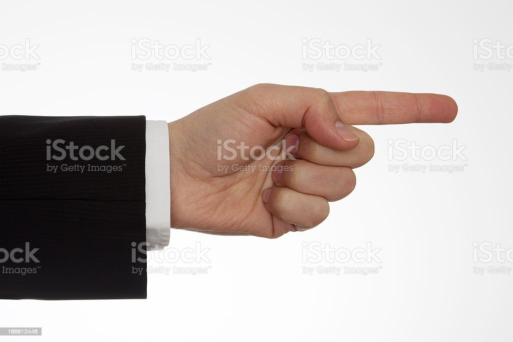 Pointing Hand With Clipping Path stock photo