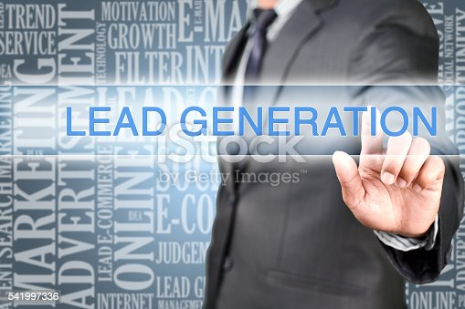 istock Pointing into lead generation 541997336