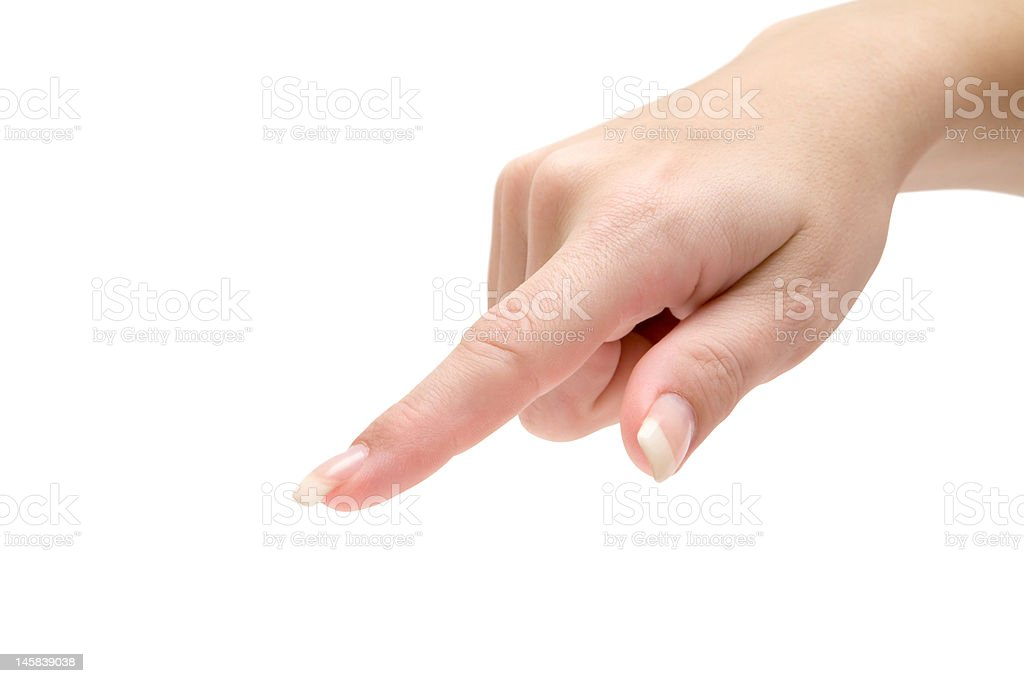 Pointing Out royalty-free stock photo