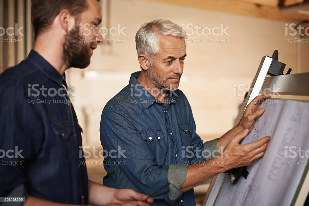 Pointing out the pro's and con's stock photo