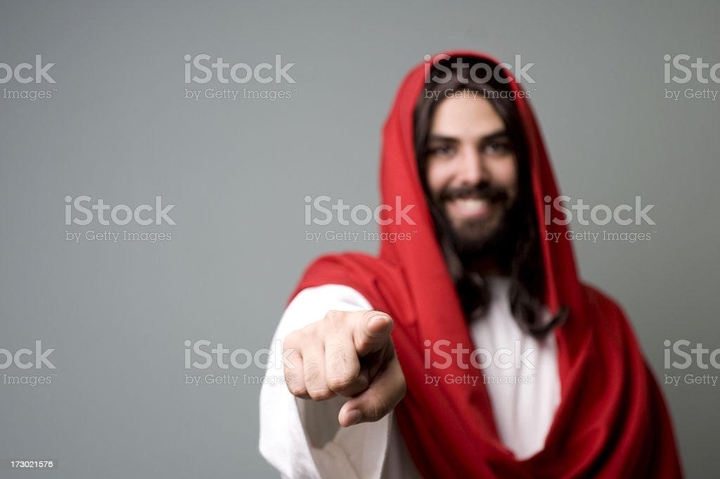Pointing royalty-free stock photo