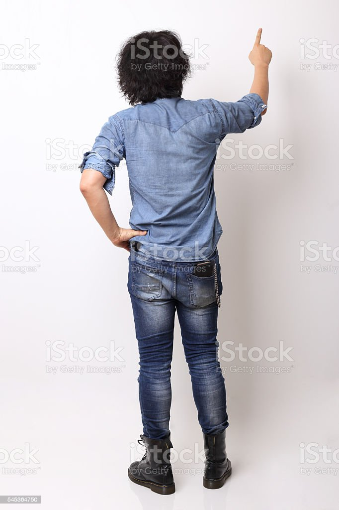 Pointing stock photo