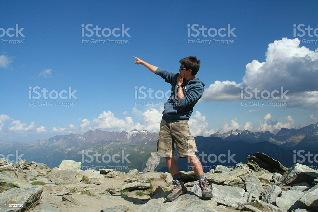 Pointing Skyward royalty-free stock photo