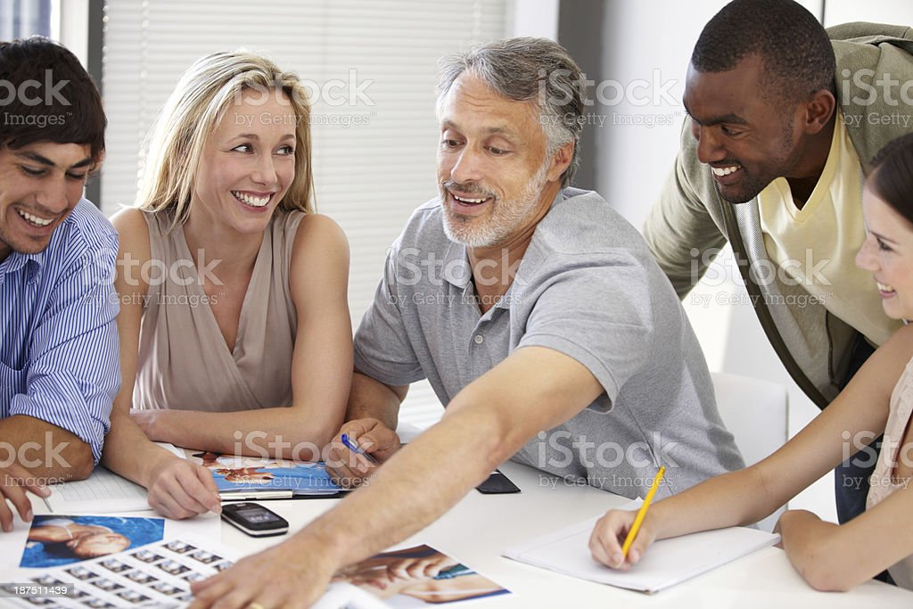 Pointing something out... royalty-free stock photo