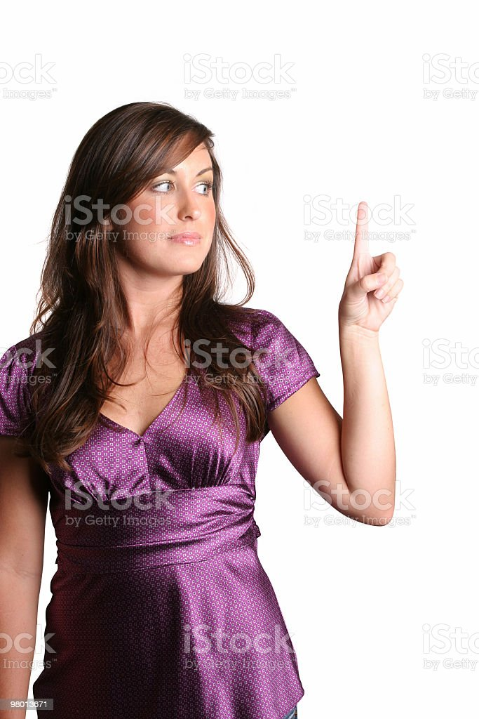 Pointing the right way royalty-free stock photo