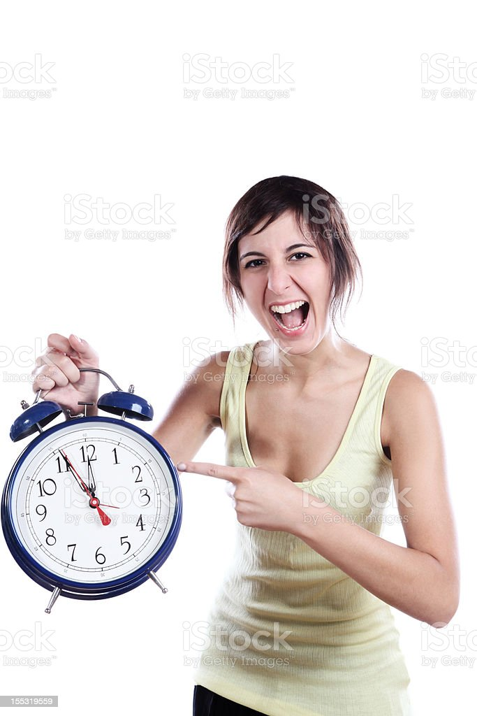Pointing The Time royalty-free stock photo