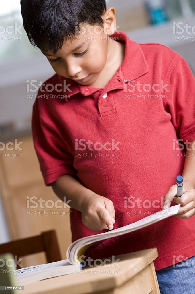 pointing to the page royalty-free stock photo
