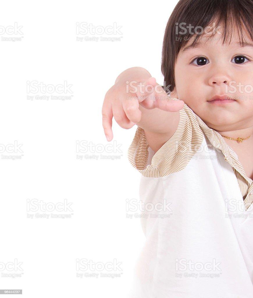 Pointing toddler - Royalty-free Fotografie Stockfoto