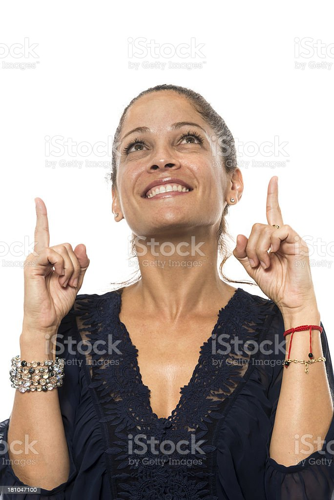 pointing up stock photo