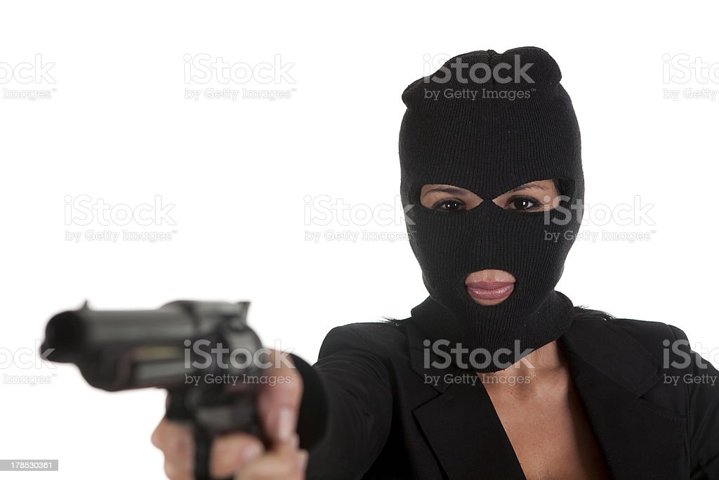 pointing with gun royalty-free stock photo