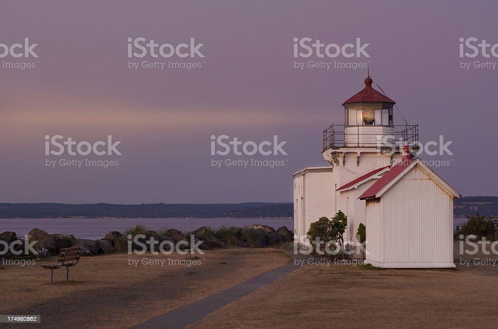 Point-No-Point Lighthouse at Dusk royalty-free stock photo