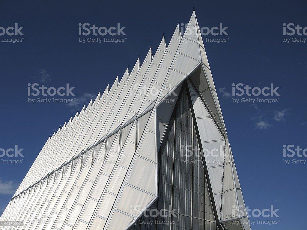 pointy chapel stock photo