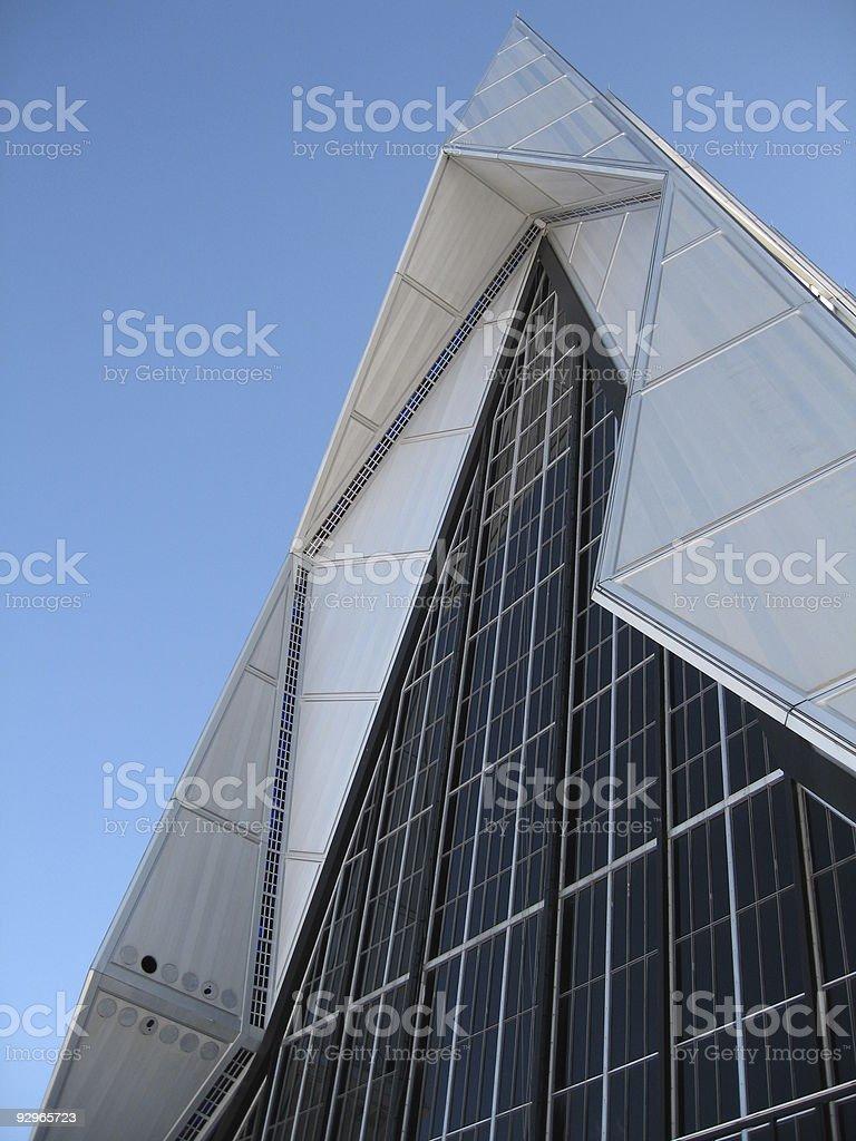 pointy church stock photo