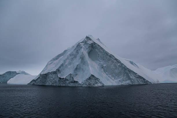 Pointy iceberg up close stock photo