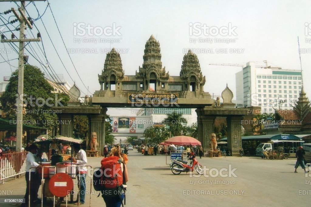 Poipet border crossing, Thailand-Cambodia stock photo