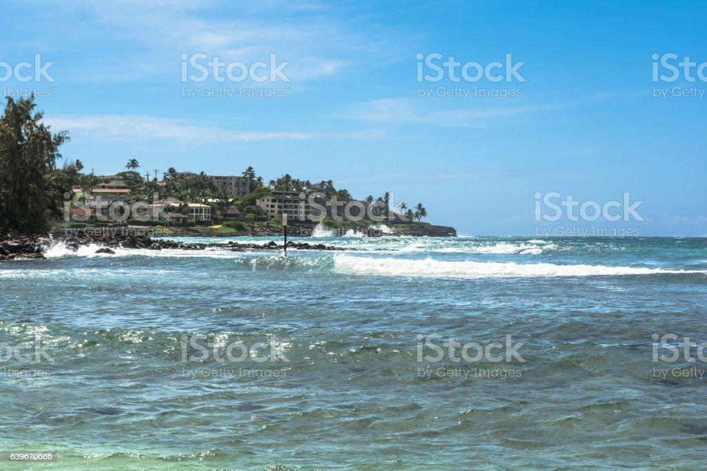 Poipu Beach, Kauai, Hawaii stock photo