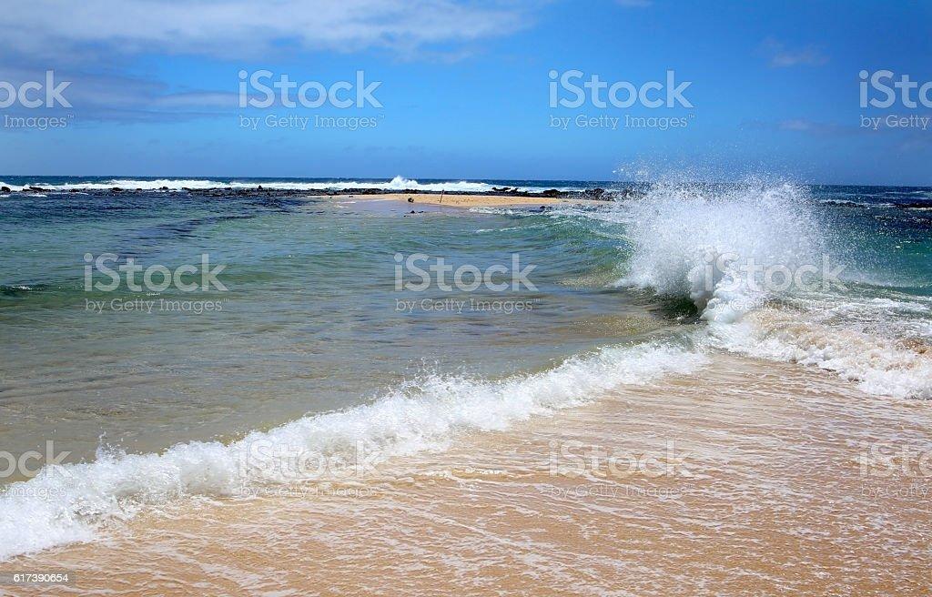 Poipu Beach, Kauai, Hawaii, USA stock photo