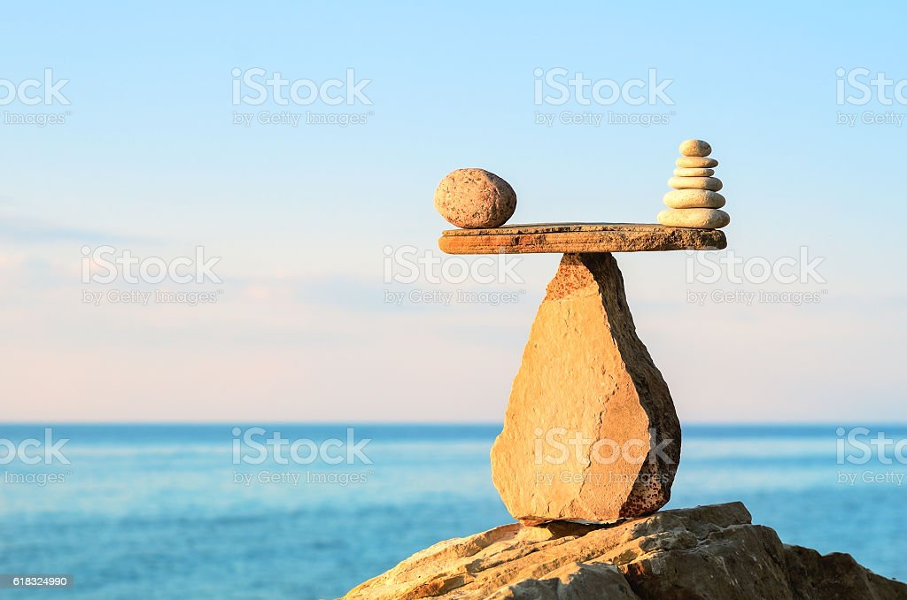 Poise of stones stock photo