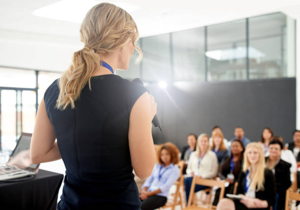 Poised for a memorable presentation stock photo