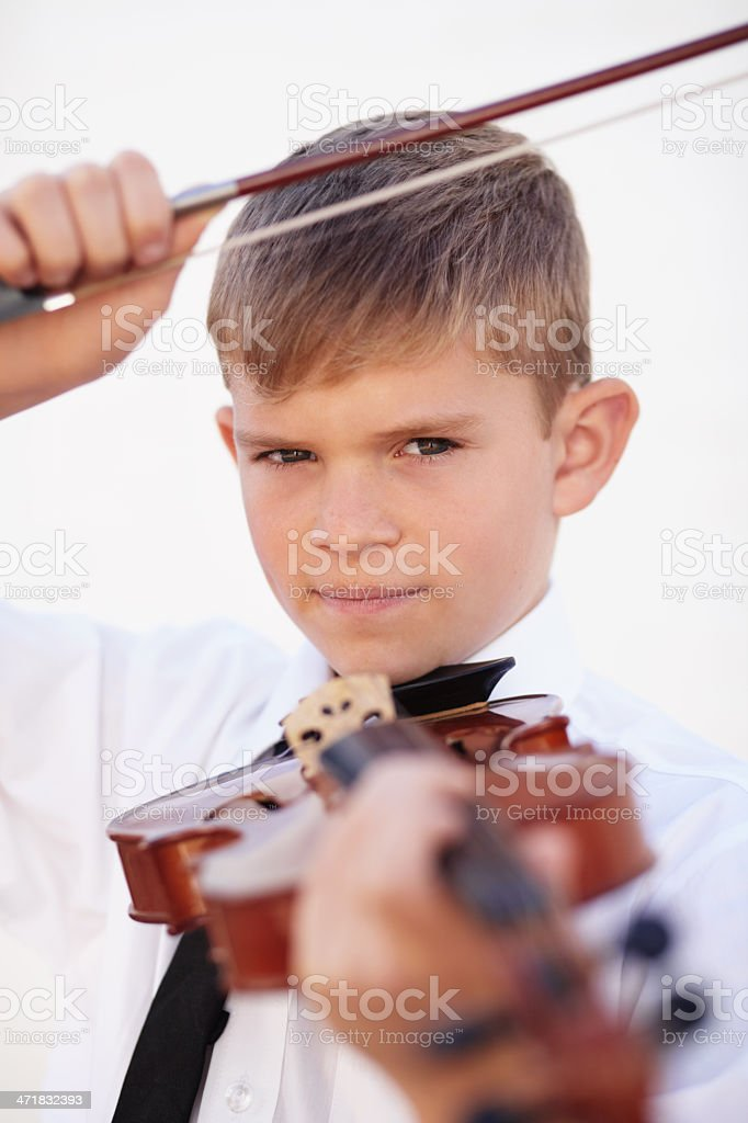 Poised to perform royalty-free stock photo