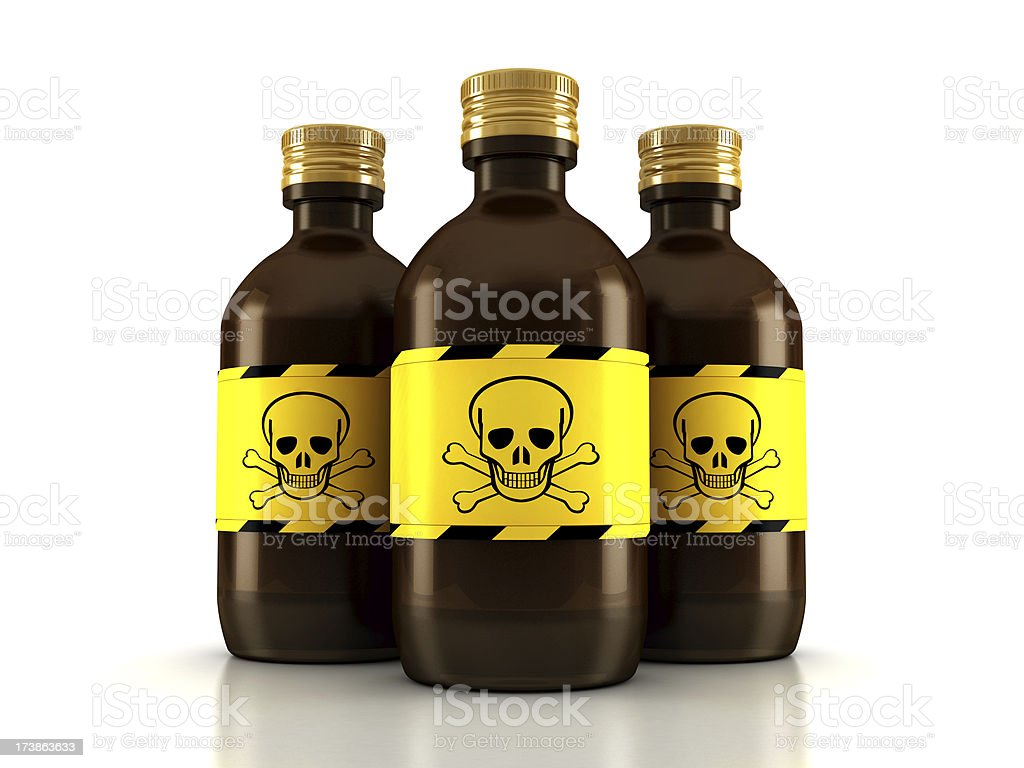 Poison bottles royalty-free stock photo