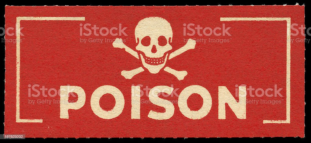 poison label stock photo