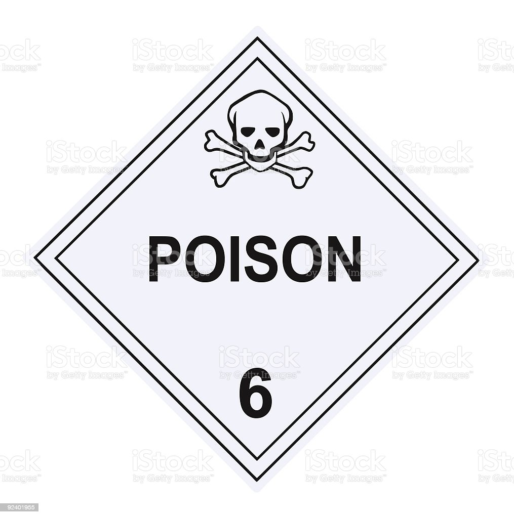 Poison Warning Placard royalty-free stock photo