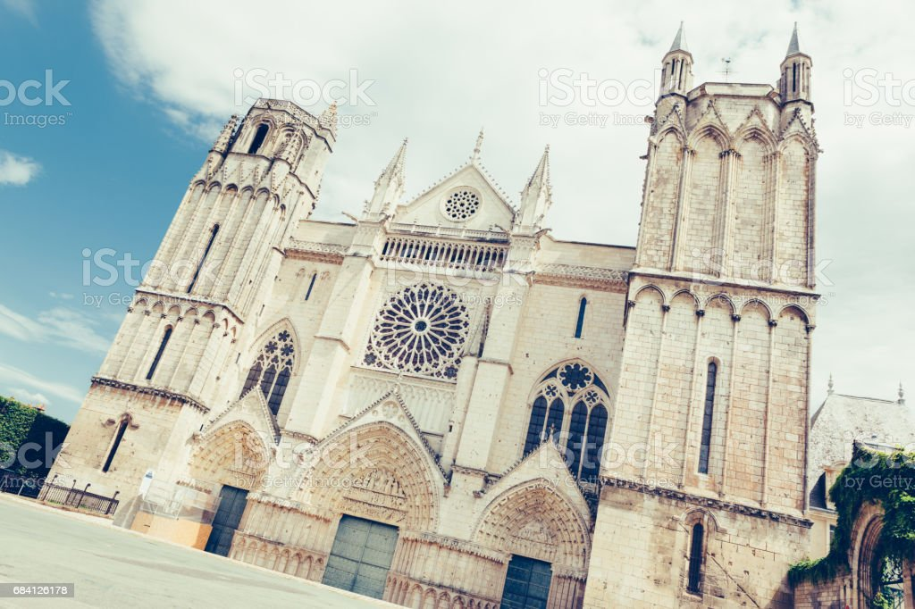 Poitiers, France, Cathedrale Saint-Pierre foto stock royalty-free