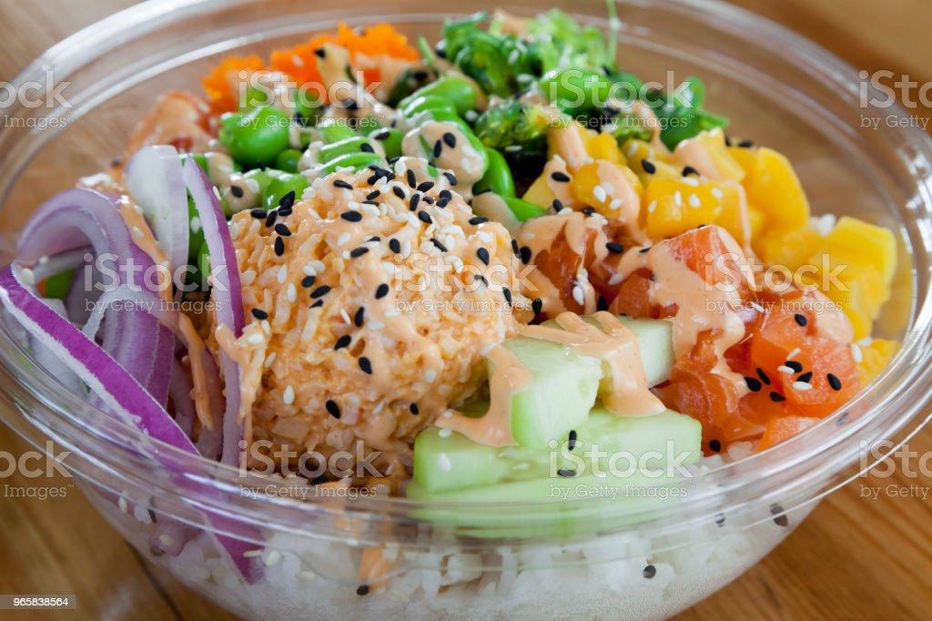 Poke Bowl - Royalty-free Appetizer Stock Photo