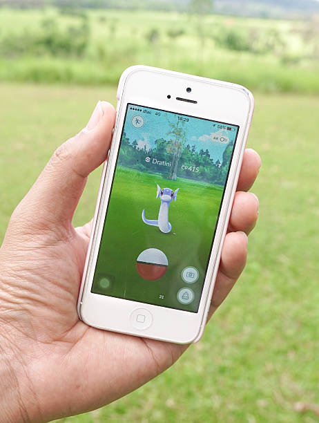 pokemon go - miniryu (dragon pokemon) - pflanzen pokemon stock-fotos und bilder