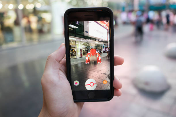 pokemon go - augmented reality stock photos and pictures