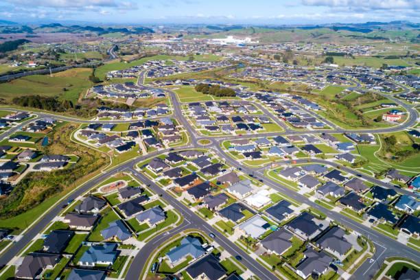 Pokeno Aerial View stock photo