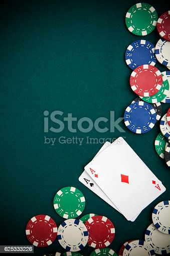 Poker and Chips Felt Background