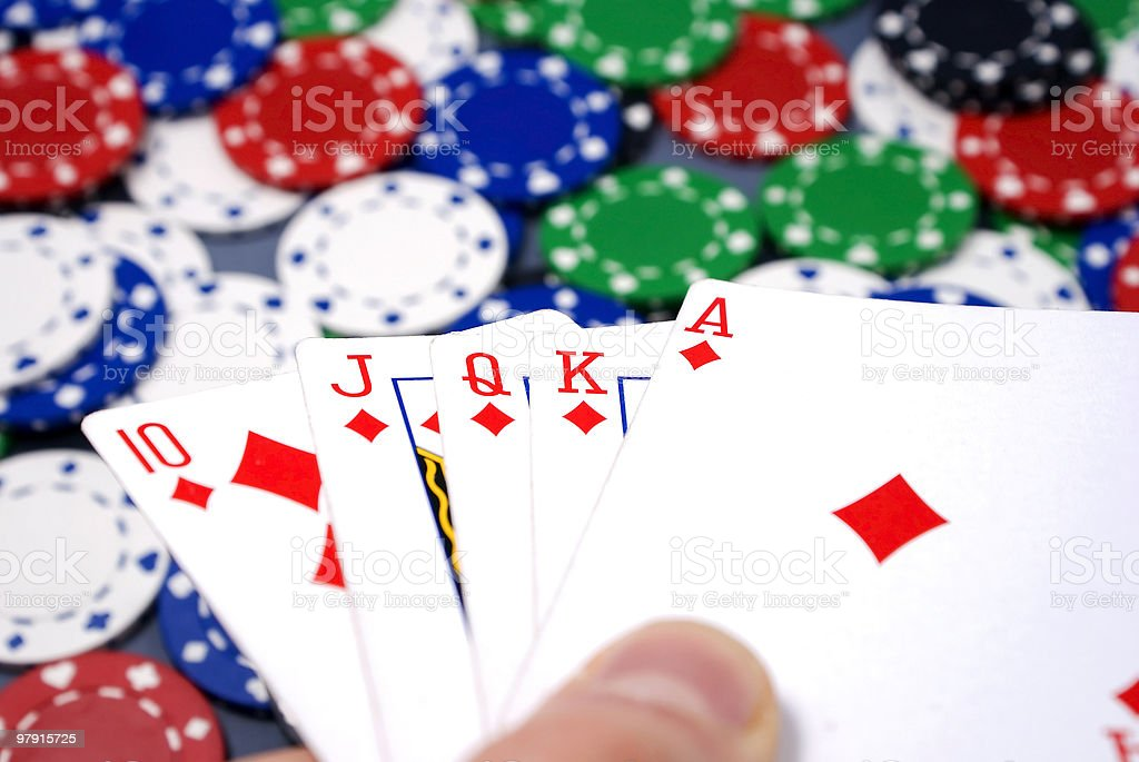 poker cards royalty-free stock photo