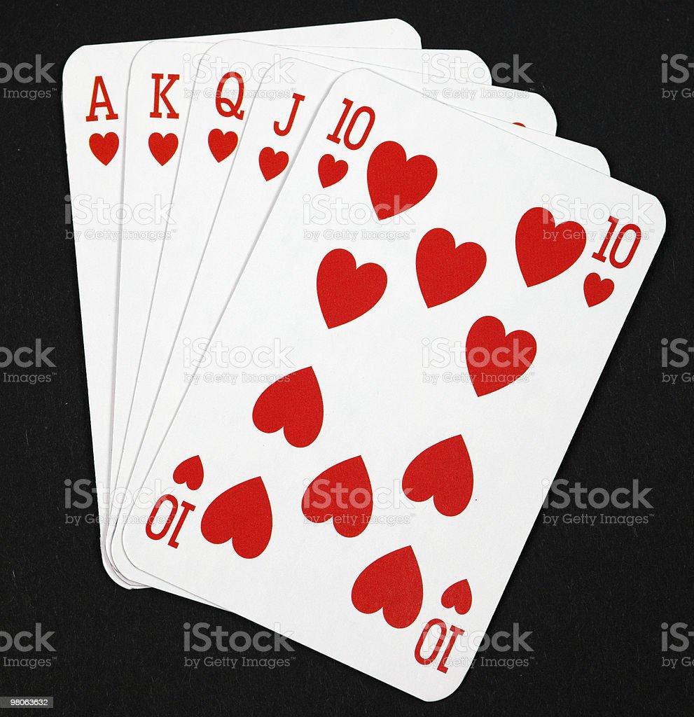 poker carte foto stock royalty-free