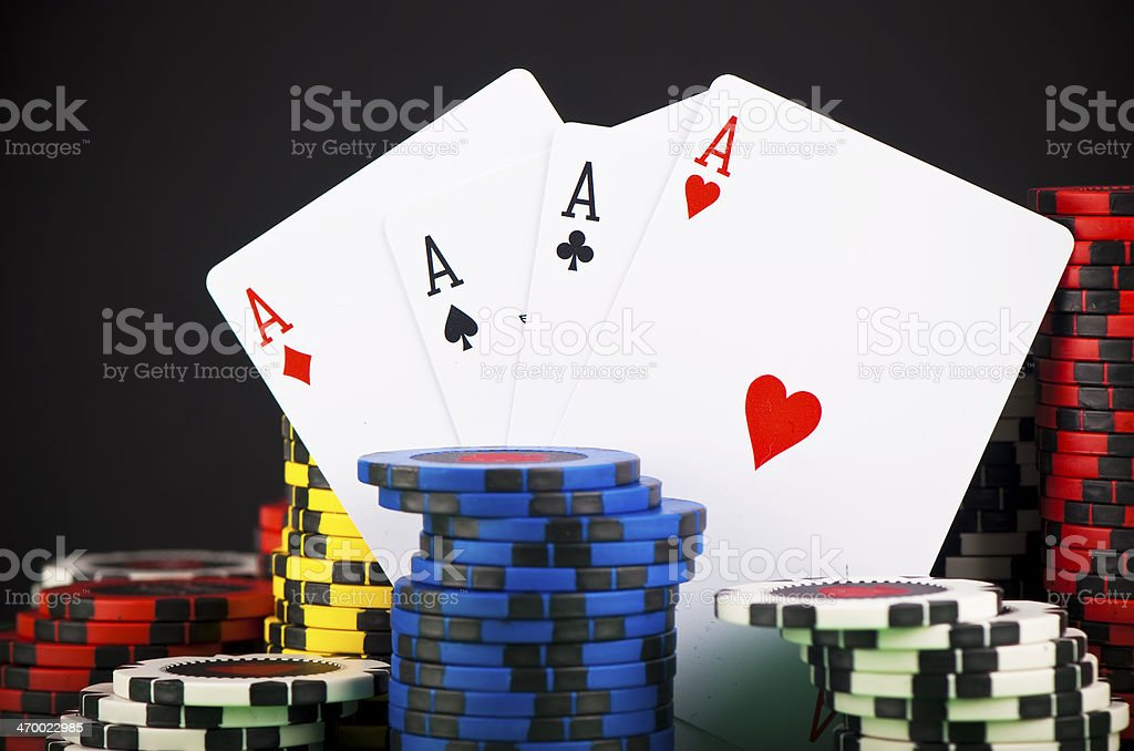 Poker chip royalty-free stock photo