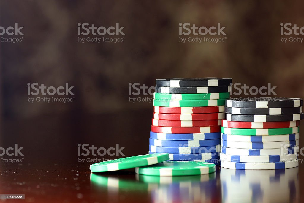 poker chips Cards stock photo