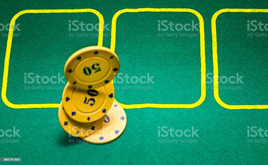 Poker chips in flight ロイヤリティフリーストックフォト