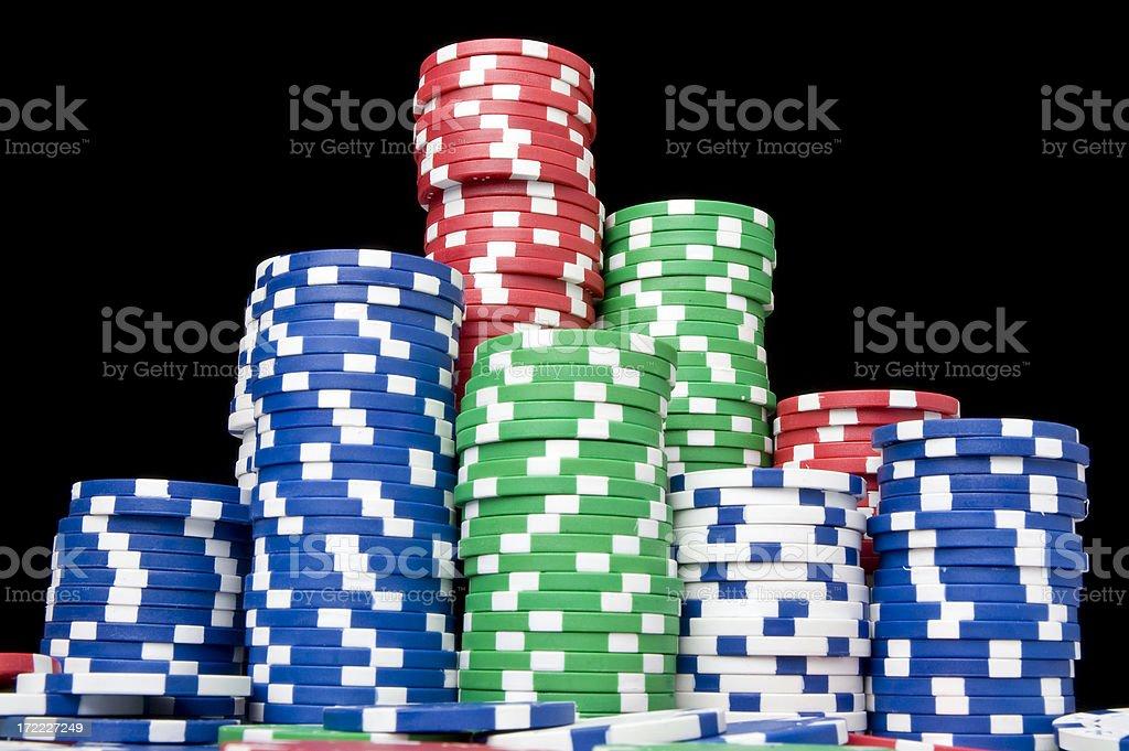 Poker chips royalty-free stock photo