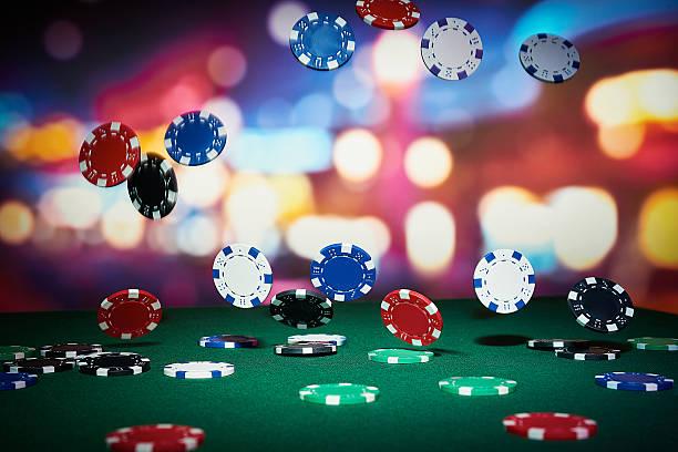 poker chips - black jack bildbanksfoton och bilder