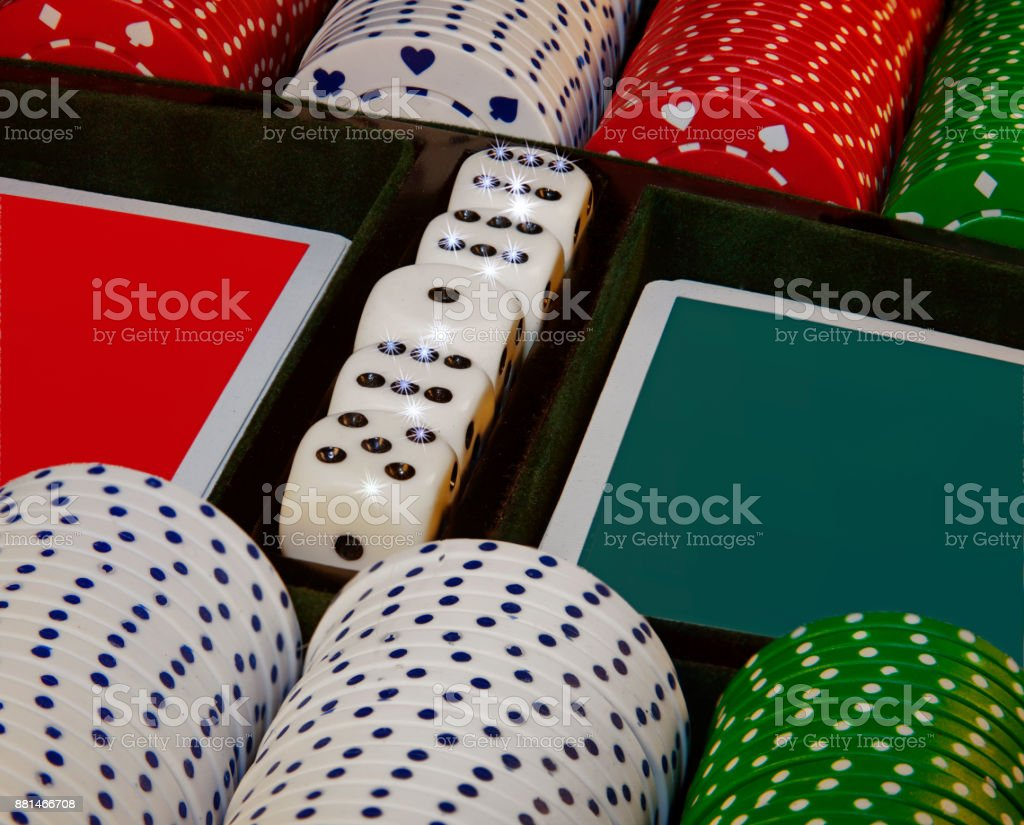Poker Chips. stock photo