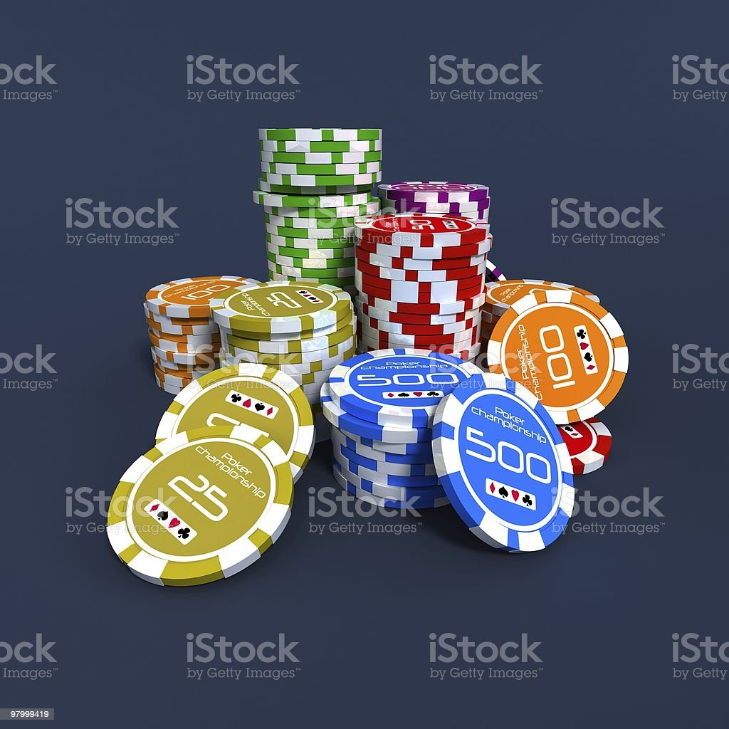 poker chips royalty-free stock photo