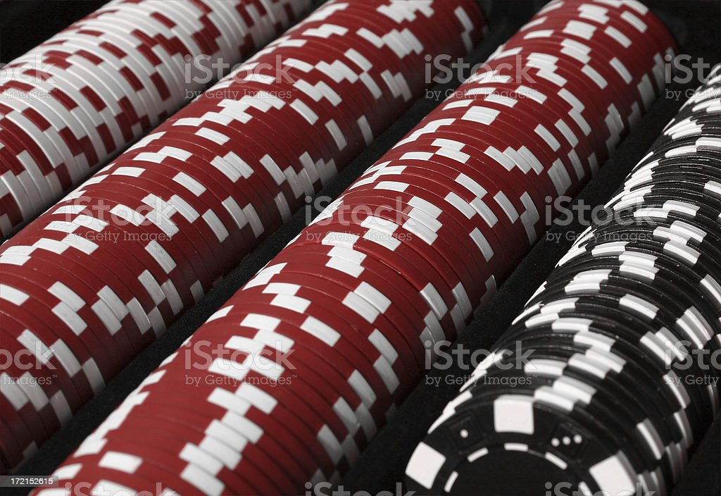 Poker Chips Rows royalty-free stock photo
