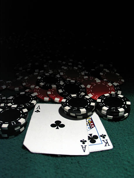 poker chips w ak - black jack bildbanksfoton och bilder