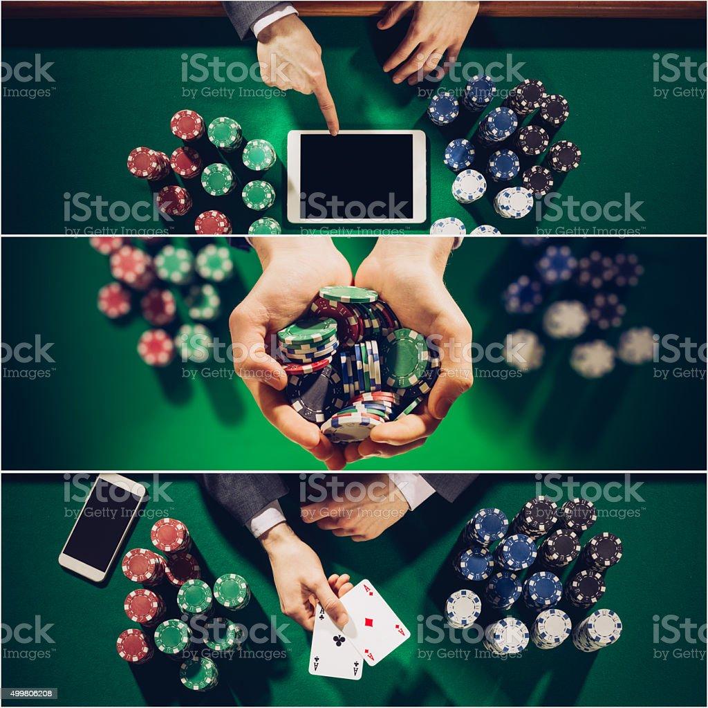 Poker collage stock photo