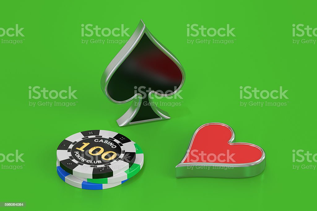poker concept, 3D rendering royalty-free stock photo