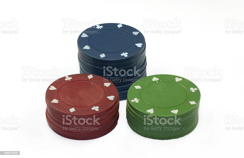 poker fishes royalty-free stock photo
