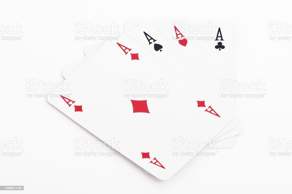 poker - Four aces stock photo