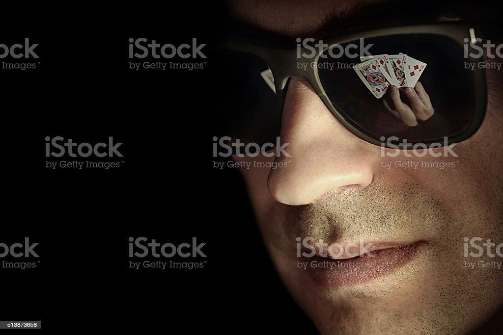 poker gambler stock photo